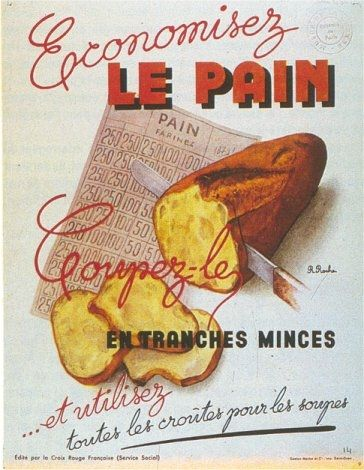 1940 Rationemment du pain