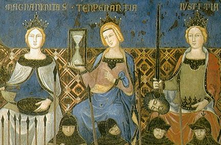 Allegory of Good Government - Ambrogio Lorenzetti (1338-1339) - frersco - Siena, Palazzo Publico, Sala dei Nove