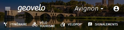 Grand Avignon - Application GéoVélo