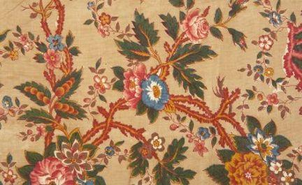 Drapery recouvert de tissu Durable En Coton Mélangé Imprimé Floral-Prune
